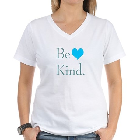 """Be Kind"" with a heart. Women's V-Neck T"
