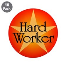 "Hard Worker 3.5"" Button (10 pack)"