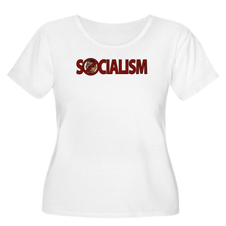 Obama: Socialism Women's Plus Size Scoop Neck T-Sh