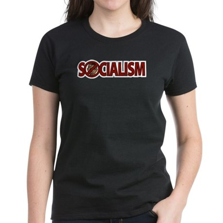 Obama: Socialism Women's Dark T-Shirt