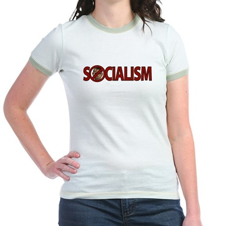 Obama: Socialism Jr. Ringer T-Shirt