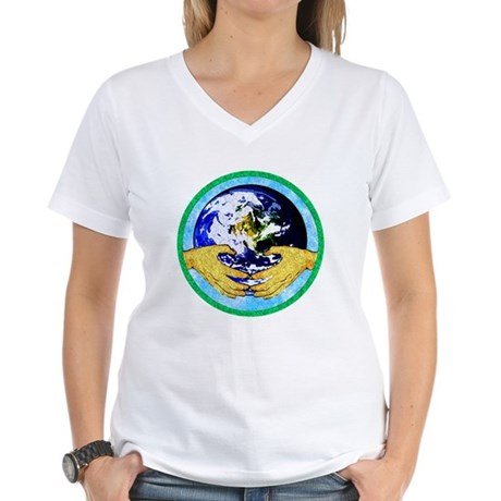 Precious Earth Women's V-Neck T-Shirt