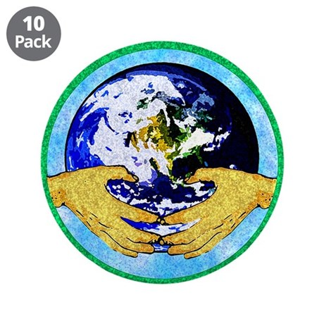 "Precious Earth 3.5"" Button (10 pack)"