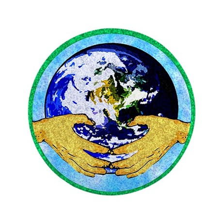 "Precious Earth 3.5"" Button"
