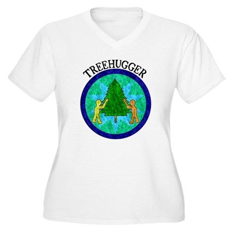 Tree Hugger Women's Plus Size V-Neck T-Shirt
