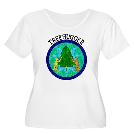 Tree Hugger Women's Plus Size Scoop Neck T-Shirt