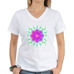 Flowers Women's V-Neck T-Shirt