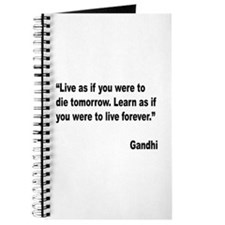 Gandhi Live and Learn Quote Journal