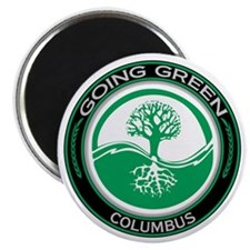 Going Green Columbus Tree Magnet