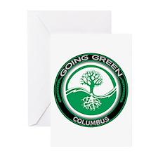 Going Green Columbus Tree Greeting Cards (Pk of 20