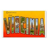 VIRGINIA VA Rectangle Decal