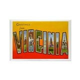 Virginia Rectangular Magnet