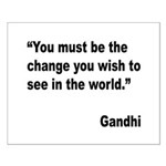 Gandhi World Change Quote Small Poster