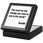 Gandhi World Change Quote Keepsake Box