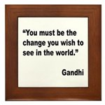 Gandhi World Change Quote Framed Tile