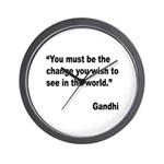 Gandhi World Change Quote Wall Clock