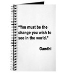 Gandhi World Change Quote Journal