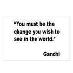 Gandhi World Change Quote Postcards (Package of 8)