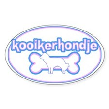 Powderpuff Kooikerhondje Oval Decal