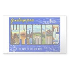 WYOMING WY Rectangle Decal