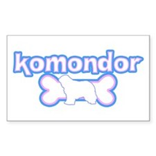 Powderpuff Komondor Rectangle Decal