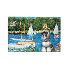 Sailboats /Min Schnauzer Rectangle Magnet