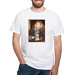 Elizabeth / Min Schnauzer White T-Shirt