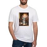 Elizabeth / Min Schnauzer Fitted T-Shirt