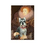 Elizabeth / Min Schnauzer Rectangle Magnet (100 pa
