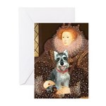 Elizabeth / Min Schnauzer Greeting Cards (Pk of 10