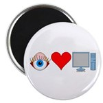 Eye Heart Computers Magnet