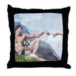 Creation / Schnauzer (#8) Throw Pillow