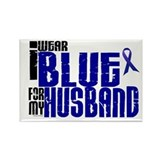 I Wear Blue For My Husband 6 Rectangle Magnet
