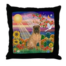 Autumn Angel /Shar Pei Throw Pillow
