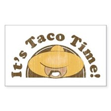 It's Taco Time! Rectangle Decal