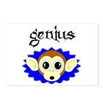 GENIUS MONKEY FACE Postcards (Package of 8)