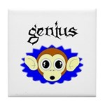 GENIUS MONKEY FACE Tile Coaster