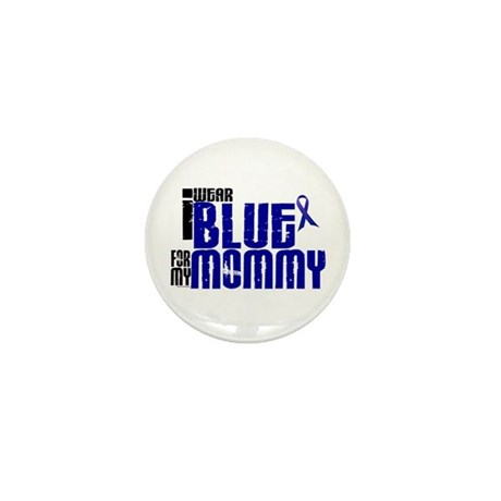 I Wear Blue For My Mommy 6 Mini Button (10 pack)