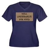 New Underwrite for Food Women's Plus Size V-Neck D
