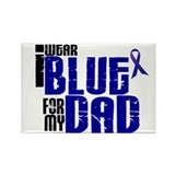 I Wear Blue For My Dad 6 Rectangle Magnet