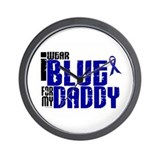 I Wear Blue For My Daddy 6 Wall Clock