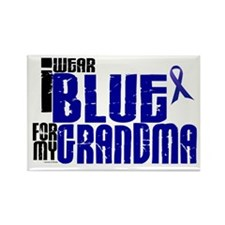 I Wear Blue For My Grandma 6 Rectangle Magnet (100