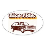 Nice Ride Oval Sticker