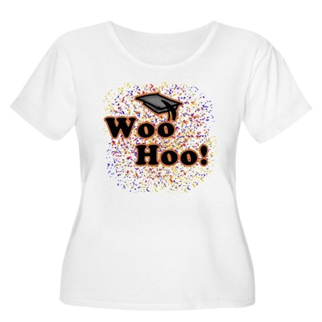 Woo Hoo Confetti Graduation Women's Plus Size Scoo