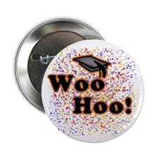 "Woo Hoo Confetti Graduation 2.25"" Button (10 pack)"