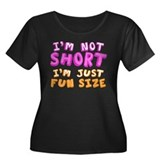 Fun Size Women's Plus Size Scoop Neck Dark T-Shirt
