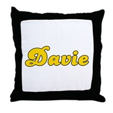 Retro Davie (Gold) Throw Pillow