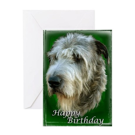 Irish Wolfhound Happy Brithday Greeting Card