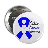 "Colon Cancer Survivor 2.25"" Button"