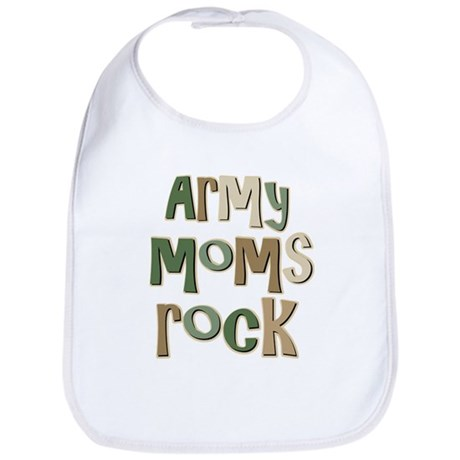 Military Army Moms Rock Bib